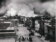 POST CARD OF AN OLD VINTAGE PHOTOGRAPH OF THE SAN FRANCISCO EARTH QUAKE