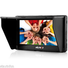 """DC-70II 7"""" Portable HDMI In/Out Clip-on High Definition LCD Monitor for DSLR Cam"""