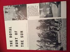 m12q ephemera 1969 film picture 2 pages the royal hunt of the sun robert shaw