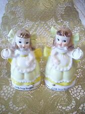 Vintage Relco Little Miss Muffet Salt & Pepper Shakers with Orig. Tag Figurine