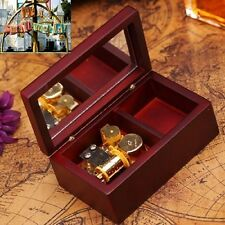 Rectangle Wood Jewelry Wind Up Music Box : canon in D