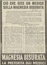 W5752 Ciò che dice un medico sulla Magnesia Bisurata - Pubblicità 1926 - Advert.