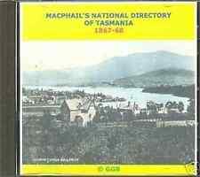 Annuaire Généalogie de Tasmanie 1867-68 CD ROM