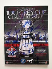 2012 GREY CUP GAME DAY Team Signed PROGRAM Toronto Argos 100th 2016