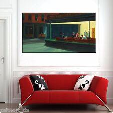 ZEIT4BILD EDWARD HOPPER Nighthawks Nachtschwärmer LEINWAND BILDER 120x60cm Kunst