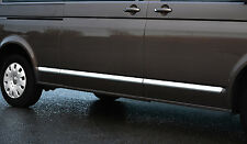 CHROME SIDE DOOR STREAMER TRIM SET COVERS ACCENTS - VW VOLKSWAGEN T5 TRANSPORTER
