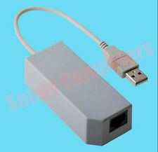USB to LAN Adapter Ethernet Network Card Cable RJ45 for Console Nintendo Wii /U