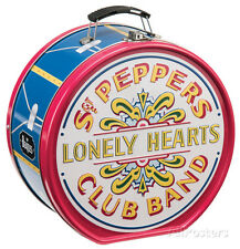 The Beatles Sgt. Pepper's Drum Shaped Tin Lunch Box Metal Collectible - 8x8