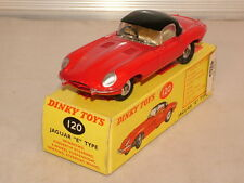 "Dinky Toys No 120 is the model of the ""E"" type Jaguar VNMB"