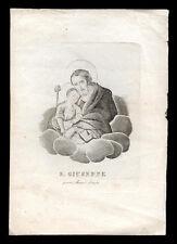santino stampa popolare 1800 S.GIUSEPPE