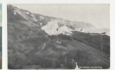 Folkestone, The Warren, Steam Train Postcard, A702
