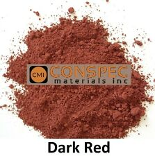 DARK RED Concrete Color Pigment Colorant Dye Cement Mortar Grout Plaster 1 LB