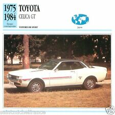 TOYOTA CELICA GT 1975 1984 CAR VOITURE JAPAN JAPON  CARTE CARD FICHE