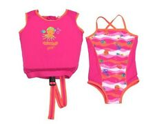 SwimSchool 2-Piece Girl Swim Trainer With Matching Swim Suit NWT