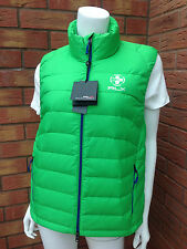 RLX RALPH LAUREN PACKABLE BRIGHT GREEN FEATHER/DOWN FILLED GILET SIZE M (UK 12)