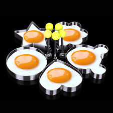Kitchen Cooking Fried Egg Heart Shaper Mold Ring Stainless Steel Pancake Mold