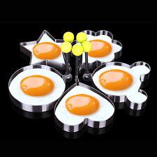 Cocina Huevo Frito Corazón Molde Forma Anillo Acero Inoxidable Tortita