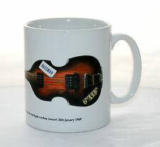 Guitar Mug. Paul McCartney's Hofner 500/1 with Bassman sticker Illustration.
