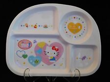 Hello Kitty Fine Porcelain Ceramic Divided Plate Made in Korea Extremely Rare