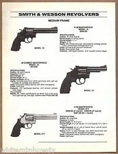 1996 SMITH & WESSON Model 14 K-38,15 Combat, 617 K-22 Masterpiece REVOLVER AD