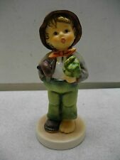 HUMMEL GOEBEL LOST STOCKING BOY W/UMBRELLA MISSING SOCK #374 FIGURINE