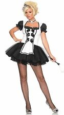 Sexy French Maid Fancy Dress Bow on Headband Flared Skirt with netting