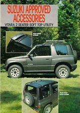 SUZUKI VITARA 2-seater SOFT TOP Utility Accessori 1989-90 UK BROCHURE MERCATO
