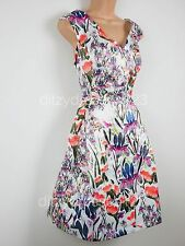 BNWT Coleen Orchid Print Satin Prom Dress Size 20 RRP £100