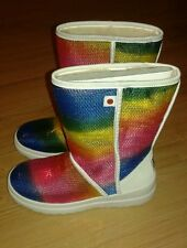 NEW  UGG I HEART KISSES SHORT SPARKLES RAINBOW BOOT SIZE 7