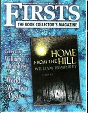 FIRSTS 9/13, rare US book collector mag, WW2 poets pat 2, William Humphrey
