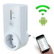 WiFi Smart EU Power Plug Socket Mobile Phone Wireless Remote Control Switch New