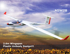 Volantex 2.6M ASW28 Plastic Made Original ARF RC Glider Airplane Model W/O Radio