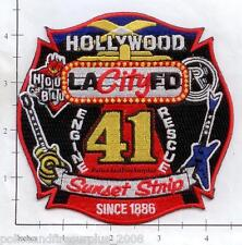 California - Los Angeles City Engine 41 Rescue 41 CA Fire Dept Patch SunsetStrip