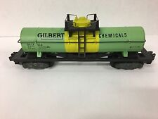 American Flyer 910 Gilbert Chemicals Tank Car  With OB, 1954 Only  Excellent+