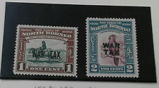 North Borneo 1941 Opt. WAR TAX (2v) ~ Mint