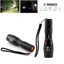 2x 1000-2000 Lumen 5 Mode CREE XML-T6 LED Flashlight Zoom Focus Lamp Light Torch