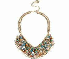 BETSEY JOHNSON WEAVE AND SEW MULTI WOVEN BIB NECKLACE NWT$145