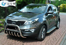 KIA SPORTAGE BULL BAR, CHROME AXLE NUDGE A-BAR 60mm, 2010+Onwards S.STEEL, NEW