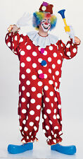 Dotted Circus Clown Adults Womens Ladies Scary Mens Fancy Dress Costume 55052