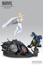 X-Men vs Sentinel diorama Beast and White Queen Marvel estatua Sideshow