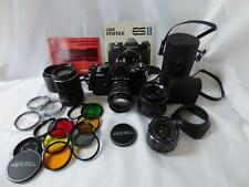 Pentax Asahi ESII 35mm Camera with Extra Lens & Accessories Used