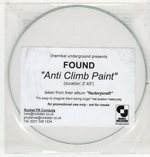 (ET518) Found, Anti Climb Paint - 2011 DJ CD