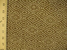 Woven Textured Geometric Diamond Mocha Light Tan Upholstery Fabric