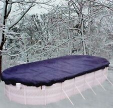 15'x24' Oval Above Ground Winter Swimming Pool Solid Cover 15Yr  REINFORCED HEM