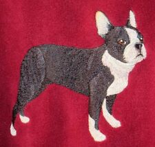 Embroidered Long-Sleeved T-shirt - Boston Terrier C3912 Sizes S - Xxl