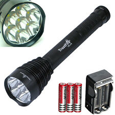 7x Cree XM-L T6 LED 8500lm Torch Flashlight +3x 18650 +Charger Lamp Light Bright