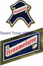 Original Unused 1950s Braumeister Beer Label Tavern Trove IRTP Milwaukee