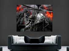 APACHE HELICOPTER AH 64 ARMY   ART HUGE  LARGE PICTURE POSTER GIANT