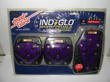 Street Glow IND GLO SPORT PEDALS BLACK MANUAL PURPLE.