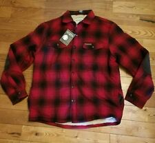 NEW Mens FIELD & STREAM Red Plaid Sherpa-Lined Flannel Shirt Jacket Size XL $100